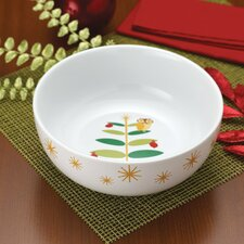 "Holiday Hoot 9.75"" Serving Bowl"