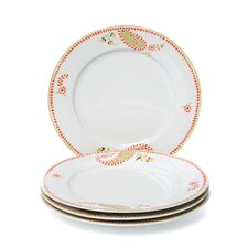 "<strong>Rachael Ray</strong> Paisley 10.5"" Dinner Plates: Set of (4)"