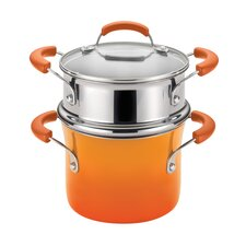 <strong>Rachael Ray</strong> Porcelain II Nonstick 3 Qt. Covered Steamer Set
