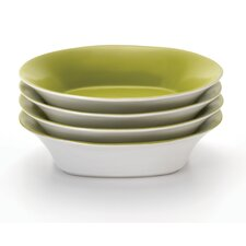 "Round and Square 9"" Soup/Pasta Bowl (Set of 4)"