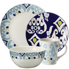 Ikat 16 Piece Dinnerware Set
