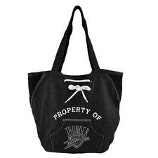 NBA Sport Noir Hoodie Tote Bag