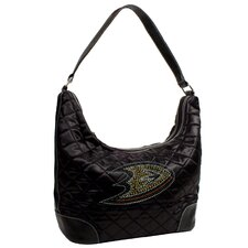 <strong>Little Earth</strong> NHL Sport Noir Quilted Hobo Bag