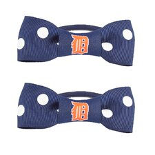 MLB Bow Pigtail Holder (Set of 2)