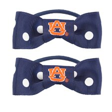 NCAA Bow Pigtail Holder (Set of 2)