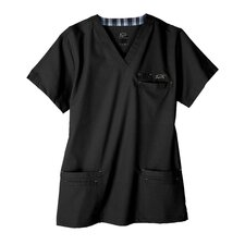 7400 Men's 6-Pocket MedFlex II Top in Eclipse Black