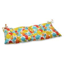 Paint Splash Wrought Iron Loveseat Cushion