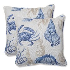 <strong>Pillow Perfect</strong> Sealife Throw Pillow (Set of 2)