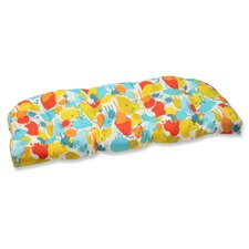 Paint Splash Wicker Loveseat Cushion