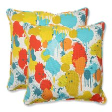 Paint Splash Throw Pillow (Set of 2)
