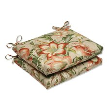<strong>Pillow Perfect</strong> Botanical Glow Tiger Stripe Seat Cushion (Set of 2)