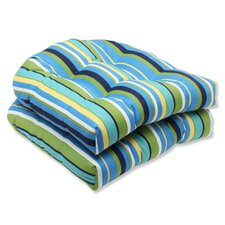 <strong>Pillow Perfect</strong> Topanga Wicker Seat Cushion (Set of 2)
