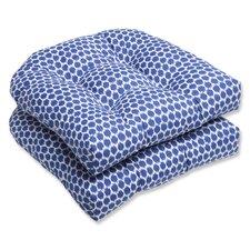 Seeing Spots Wicker Seat Cushion (Set of 2)
