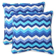 Panama Wave Throw Pillow (Set of 2)