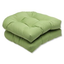 Canvas Wicker Seat Cushion (Set of 2)