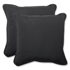 <strong>Pillow Perfect</strong> Canvas Throw Cushion (Set of 2)