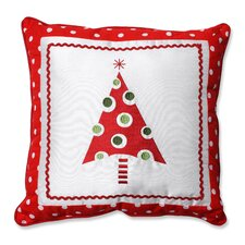 Framed Christmas Tree Throw Pillow
