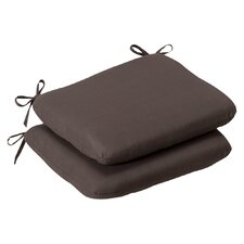 <strong>Pillow Perfect</strong> Outdoor Rounded Seat Cushion (Set of 2)