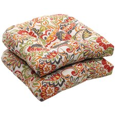 Outdoor Wicker Seat Cushion (Set of 2)