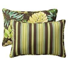 Decorative Rectangle Reversible Toss Pillow (Set of 2)