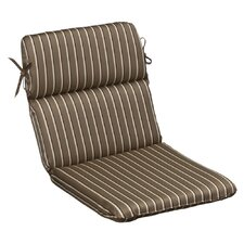 <strong>Pillow Perfect</strong> Outdoor Rounded Sunbrella Fabric Chair Cushion