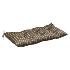 <strong>Pillow Perfect</strong> Outdoor Sunbrella Fabric Tufted Loveseat Cushion
