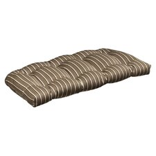 Outdoor Sunbrella Fabric Wicker Loveseat Cushion