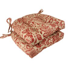 <strong>Pillow Perfect</strong> Damask Chair Cushion (Set of 2)