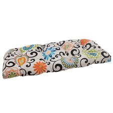 Pom Pom Play Wicker Loveseat Cushion