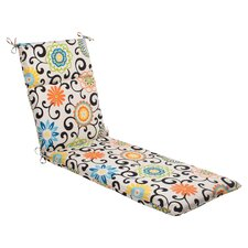 <strong>Pillow Perfect</strong> Pom Pom Play Chaise Lounge Cushion