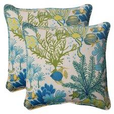 Splish Splash Corded Throw Pillow (Set of 2)