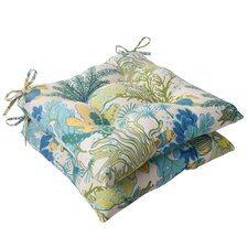 <strong>Pillow Perfect</strong> Splish Splash Tufted Seat Cushion (Set of 2)