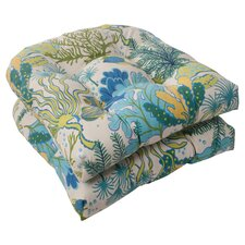 <strong>Pillow Perfect</strong> Splish Splash Wicker Seat Cushion (Set of 2)