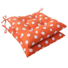 Polka Dot Tufted Seat Cushion (Set of 2)