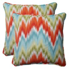 <strong>Pillow Perfect</strong> Flamestitch Corded Throw Pillow (Set of 2)