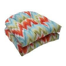 Flamestitch Wicker Seat Cushion (Set of 2)