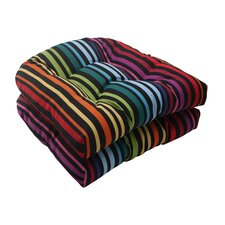 <strong>Pillow Perfect</strong> Godivan Wicker Seat Cushion (Set of 2)