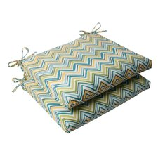 <strong>Pillow Perfect</strong> Cosmo Chevron Seat Cushion (Set of 2)