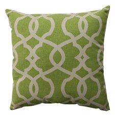 Lattice Damask Throw Pillow