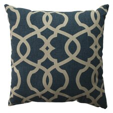 <strong>Pillow Perfect</strong> Lattice Damask Cotton Pillow