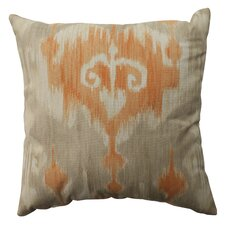 <strong>Pillow Perfect</strong> Marlena Ikat Cotton Pillow