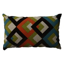 Overlap Geo Poly / Cotton Throw Pillow
