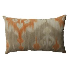 <strong>Pillow Perfect</strong> Marlena Ikat Cotton Throw Pillow
