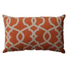 Lattice Damask Cotton Throw Pillow
