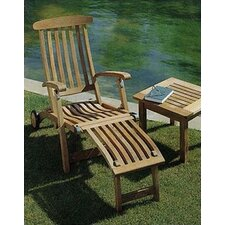 Commodore Long Wheel Steamer Lounge Chair