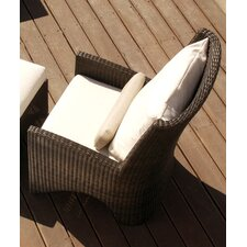 <strong>Barlow Tyrie Teak</strong> Savannah Woven Deep Seating Arm Chair with Cushion