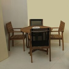 <strong>Barlow Tyrie Teak</strong> 5 Piece Patio Dining Set