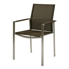 Mercury Stacking Dining Arm Chair (Set of 2)
