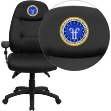 Personalized High-Back Espresso Leather Executive Office Chair