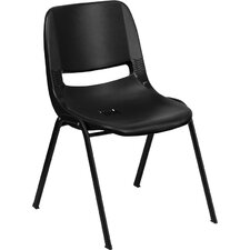 <strong>Flash Furniture</strong> Hercules Series Ergonomic Shell Stackable Chair with Frame